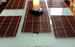 Regalo n. 6 tovagliette bambù + runner centrale